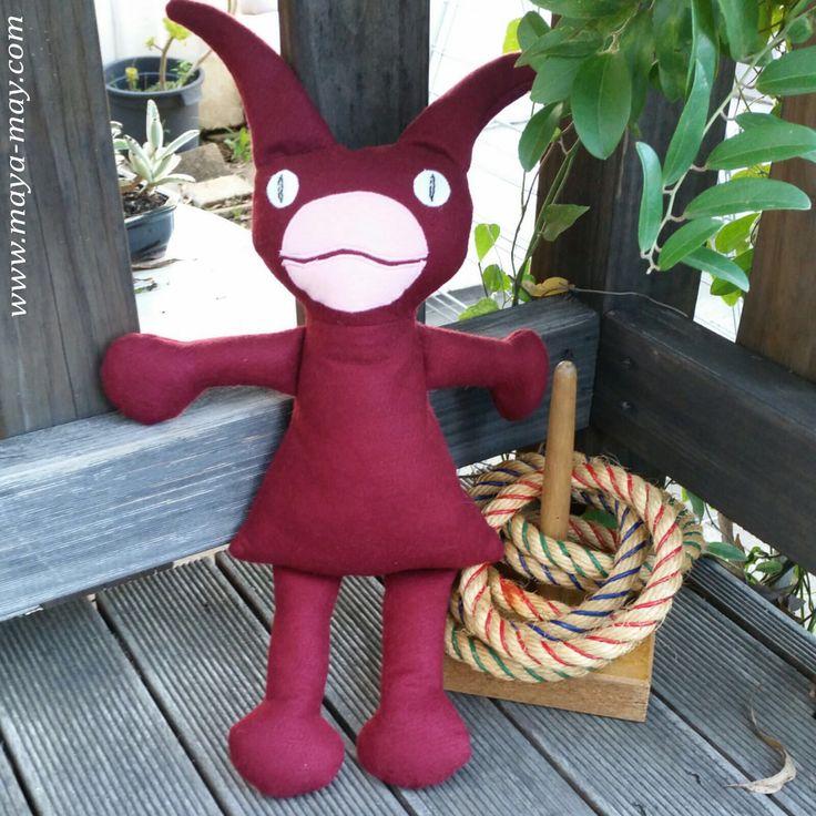 Meet our new plush friend JIM by MM KIDDO!. |Price: AUD18.00  |www.maya-may.com | Enquiries: mayamay24@gmail.com. Text : Angela +61413504255 (Australia) #dolls #plushies #felt #handmade #kids #toys #gifts #crafts