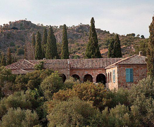 Patrick Leigh Fermor private residence, Kardamuli, Mani.