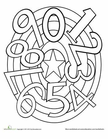 Worksheets: Numbers Mandala