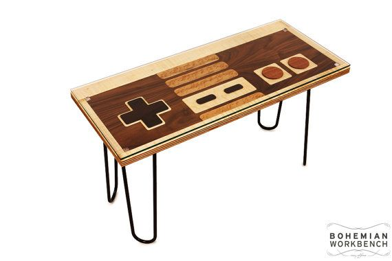 8-bit Retro Gaming Occasional Table by BohemianWorkbench on Etsy