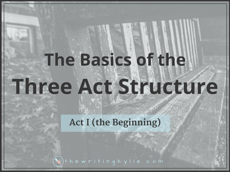The simplest building blocks of a story are found in the basic Three Act Structure (which can be used for both screenplay and novels). Act 1 is the beginning, Act 2 is the middle, and Act 3 is the ending. The components in the Three Act Structure are basically fundamental stages along the way of a story.