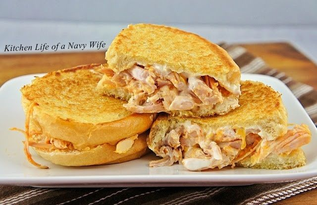 The Kitchen Life of a Navy Wife: Buffalo Ranch Chicken Grilled Cheese