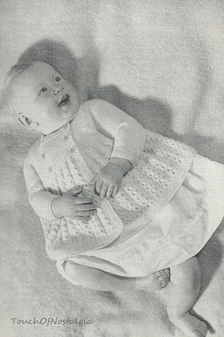 605 best Vintage Baby Knitting images on Pinterest | Baby knitting ...