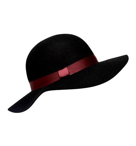 HA0666-Anabella Felt Hat/Black