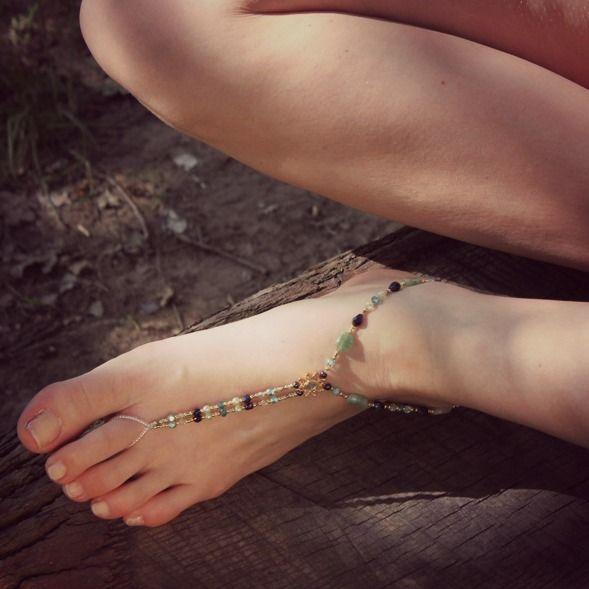 #Ocean Mix #Barefoot #Slinks Semi Precious stones to die for!
