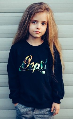 Oops! RAINBOW sweatshirt! rainbow print #black #kids #streetwear #sweatshirt #colors