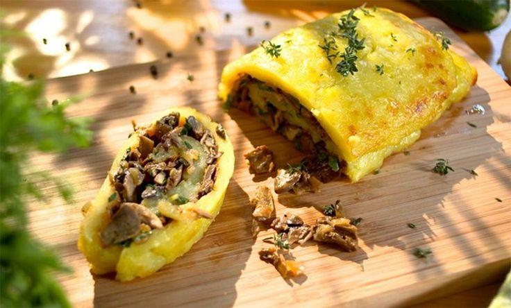 Ruladă delicioasă din cartofi cu 2 variante de umpluturi - o gustare caldă perfectă! Pregătiți-o chiar astăzi! - Bucatarul