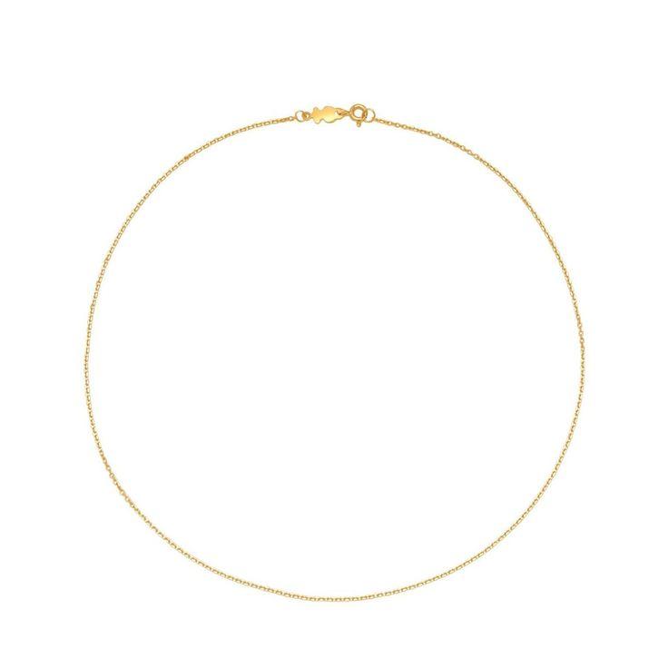 Złoty łańcuszek Tous o długości 40 cm