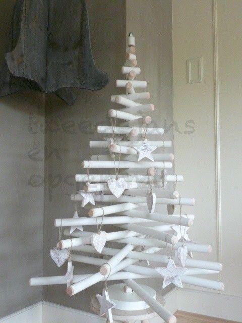 De houten kerstboom