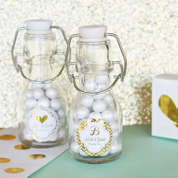Designed With A Unique Vintage Feel, These Sprint Top Closure Mini Glass  Bottles With Personalized