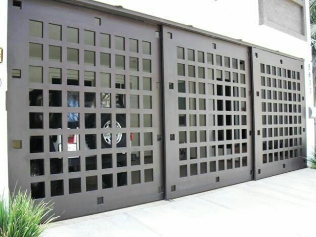 1000 ideas about portones minimalistas on pinterest - Puertas para garage ...