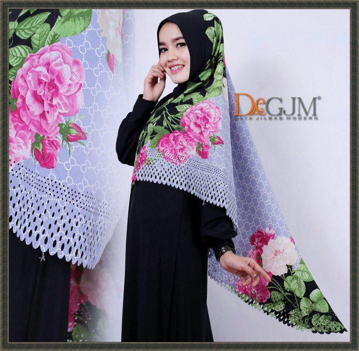 Khimar Syari Modern Terbaru Motif Gucci deGJM Hijab
