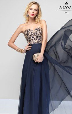 Sweetheart Silky Chiffon Gown by Alyce Prom 6665