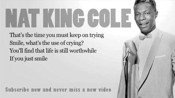 NAT KING COLE - SMILE LYRICS - SongLyrics.com