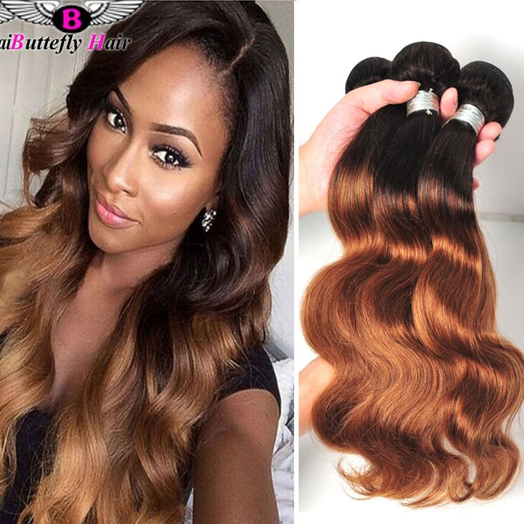 8A Peruvian Ombre Weave Dark Roots Blonde Hair T1B/27,30 Peruvian Ombre Hair Body Wave Honey Blonde Ombre Two Tone Hair Weaving *** More info could be found at the image url.