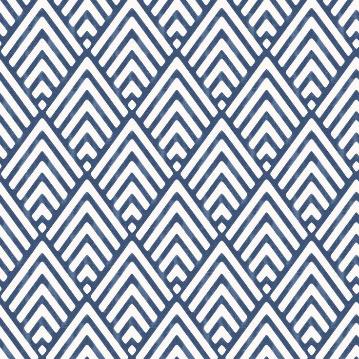 Hadley Blue Geometric Mica Wallpaper | Departments | DIY at B&Q