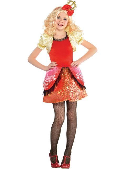 girls apple white costume supreme ever after high party city - Apple Halloween Costumes