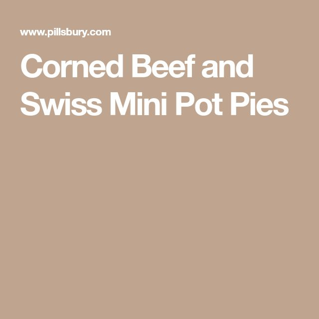 Corned Beef and Swiss Mini Pot Pies