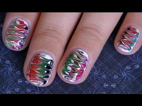 20 best youtube christmas nail tutorials images on pinterest christmas marble no water easy nail design lenysea httpwww prinsesfo Image collections
