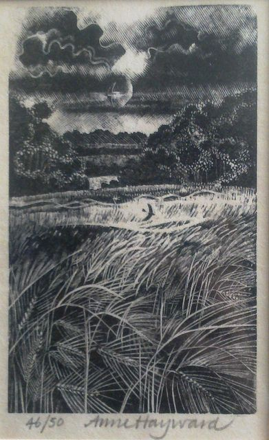 Original wood engraving by Anne Hayward.  Anne Hayward is a Hampshire artist and a member of the Society of Wood Engravers.