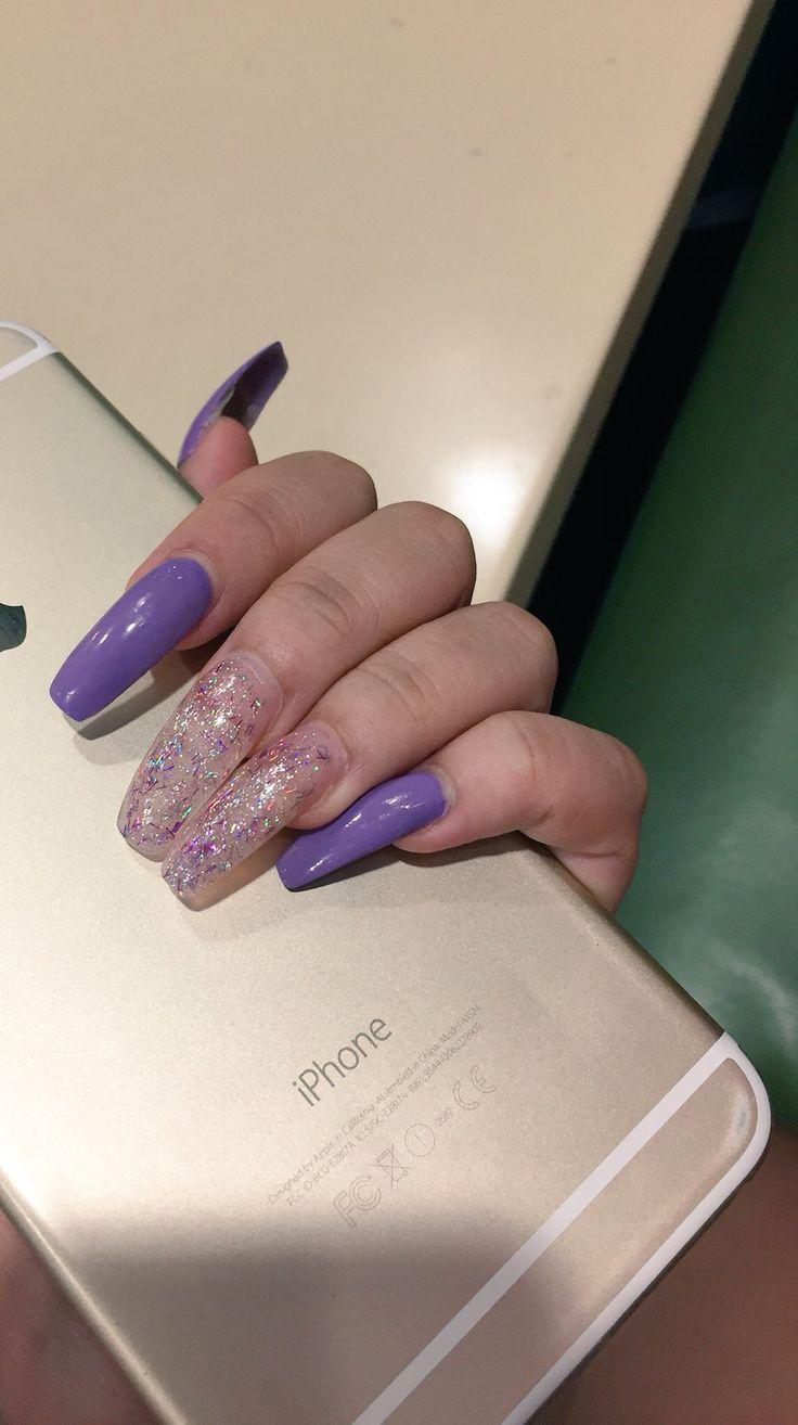 Blue glitter ombr 233 stiletto nails - Pinterest Theylovekandi Matte Nailsstiletto