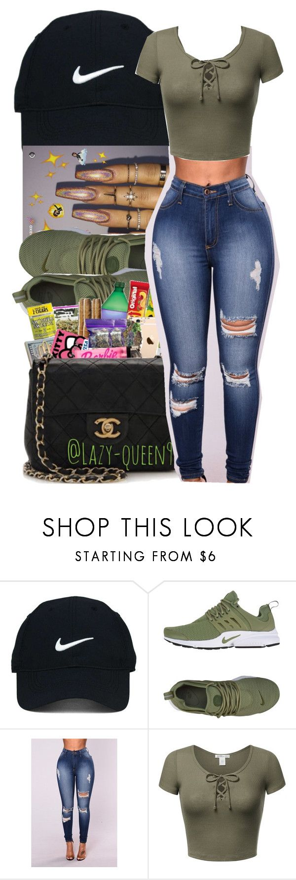 """‍♀️"" by mafiia-queen ❤ liked on Polyvore featuring beauty, Nike Golf and NIKE"