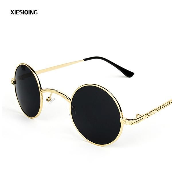 #FASHION #NEW 2018 New Designer Women Round Sunglasses Men Fashion Vintage Metal Frame Ocean Sun Glasses Shade Pink Tinted Eyewear UV400