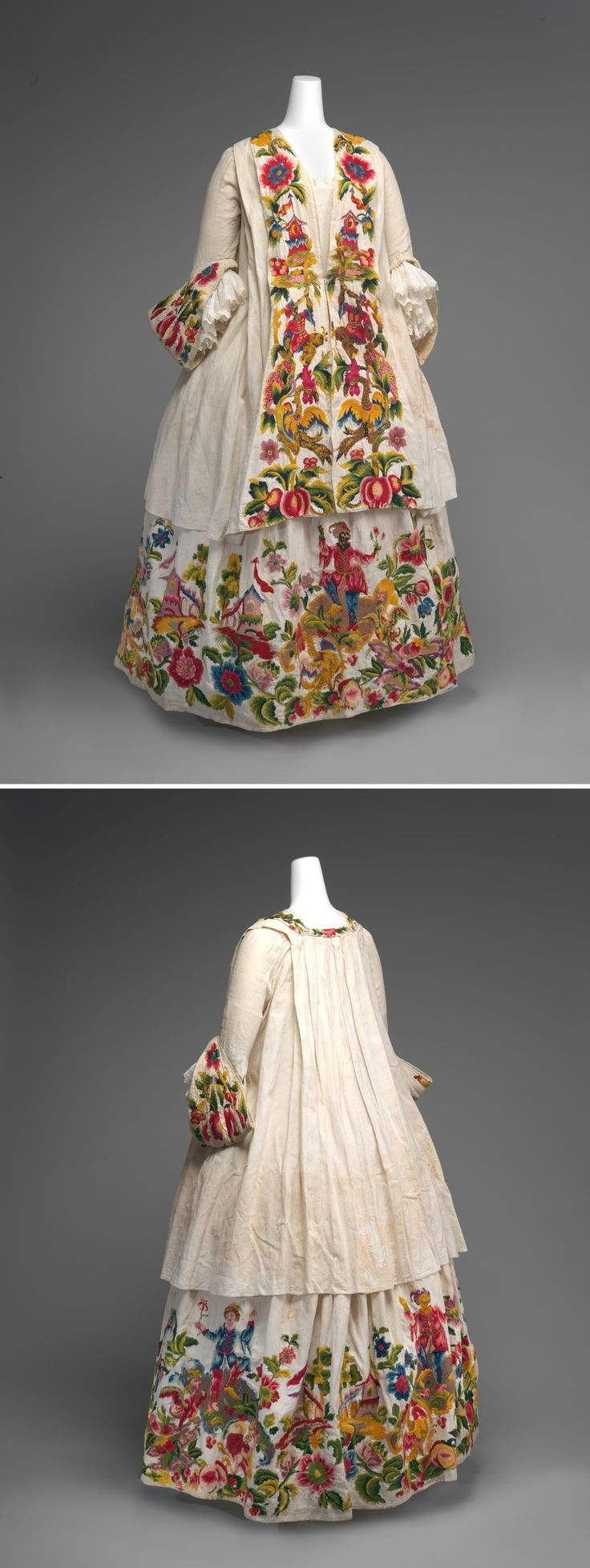 Pet-en-l'Air and Petticoat 1720-1740