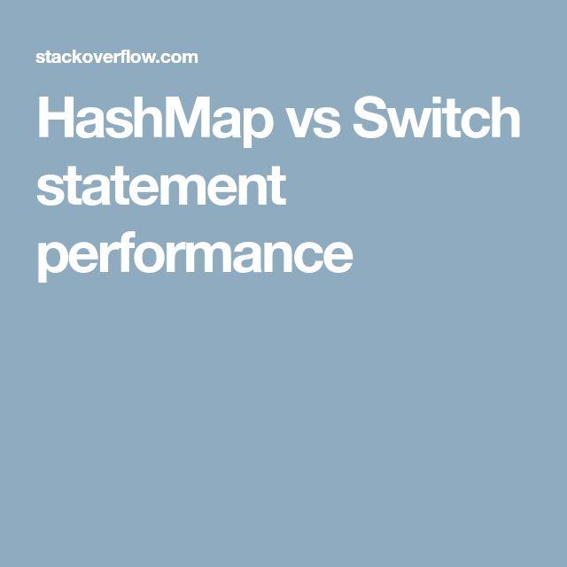 HashMap vs Switch statement performance