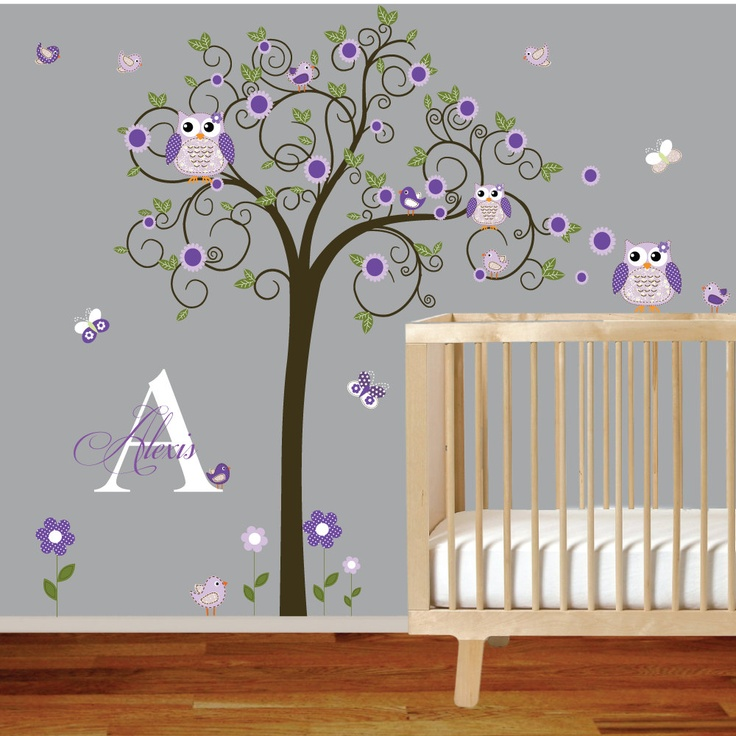 Best Kats Owls Images On Pinterest Nursery Ideas Owl Tree - Baby nursery wall decalsbestbaby wall decals ideas on pinterest baby wall stickers