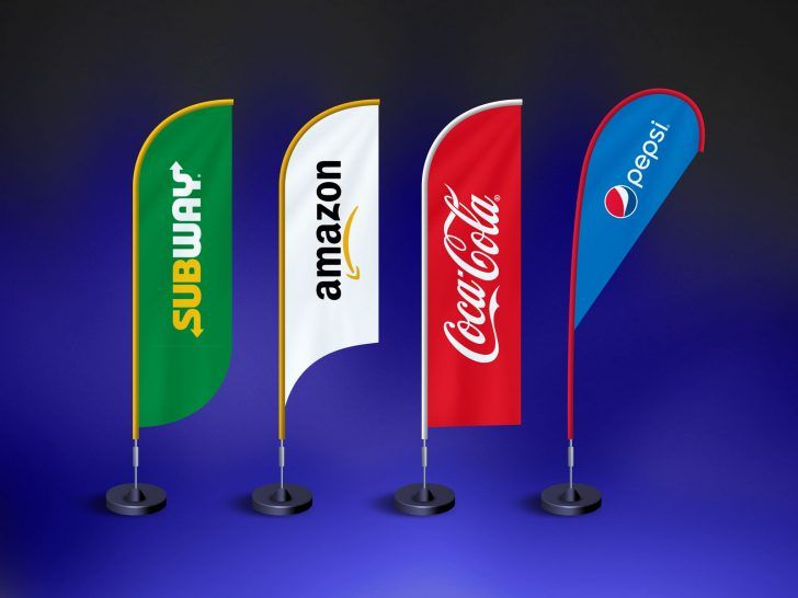 Free Feather Flag Banner Mockup Free Psd Mockups Psfiles Feather Flags Mockup Free Psd Flag Banner