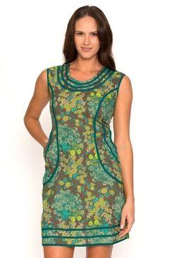 Tia Tunic Floral Turquoise