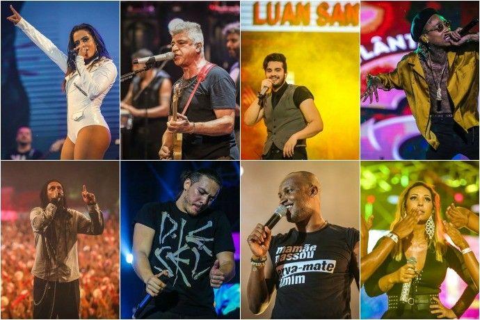 Planeta Atlãntida 2016 reuniu diversos gêneros musicais (Foto: Montagem sobre fotos/Agência Preview)