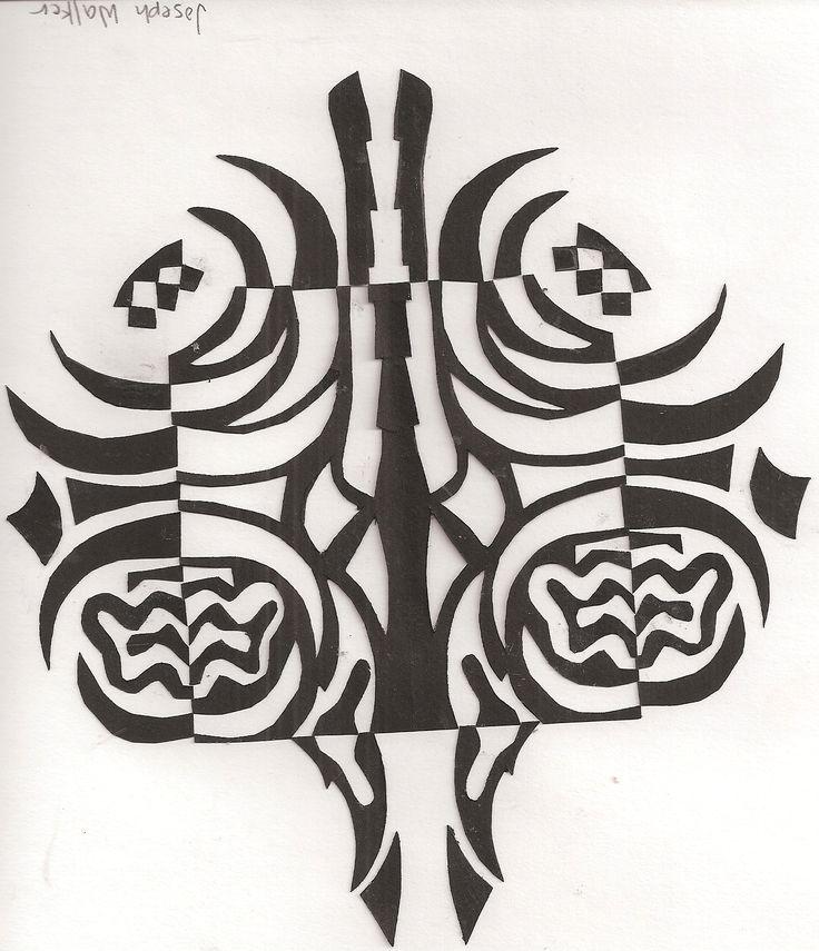 Notan design by student lphs utah myra dalton teacher papir pinterest - 5 5 designers bernardaud ...