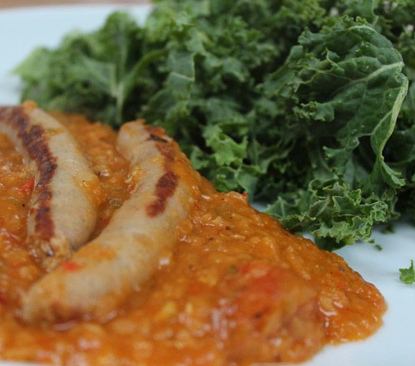 5:2 fast diet recipe for Sausage and Lentil casserole