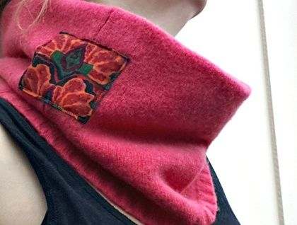 Pink Wool Neck Warmer https://cherryberry.felt.co.nz