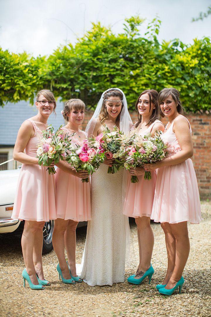 Boho Planned Weddings Peach And Aqua Tipi Wedding By Binky Nixon Bridesmaids Pinterest Bridesmaid Dresses