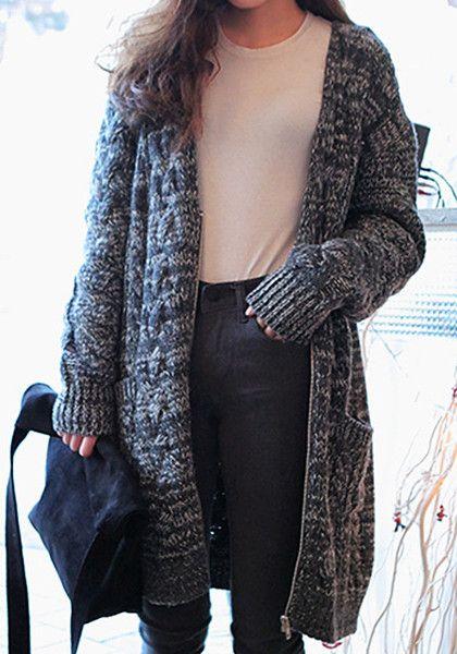 Oversized Knit Sweater Coat