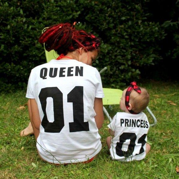 tee-shirt maman et bébé similaires Pour s'habiller comme maman ou comme papa Look mère fille ou mère fils #merefille #tellemeretellefille #lookmamanbebe