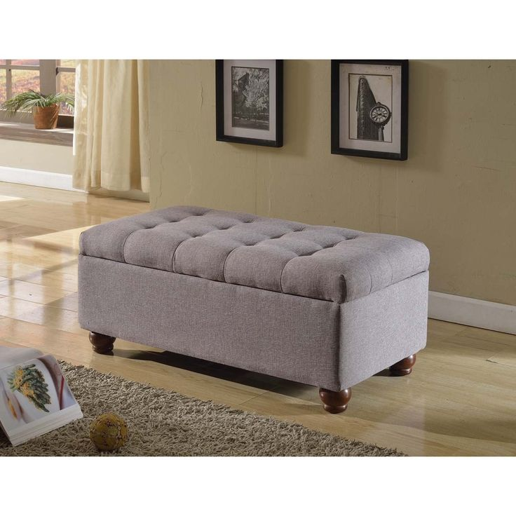 Homepop Tufted Linen Storage Bench By Homepop Linen Storage Great Deals And Shopping
