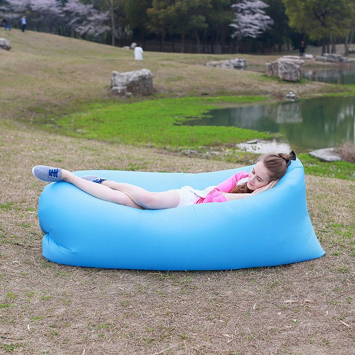This sofa is perfect for the beach, in the park, in the pool, at a festival, up a mountain - anywhere! Inflates in seconds with the unique air filling system. http://whymattress.com/lamzac-hangout-reviews