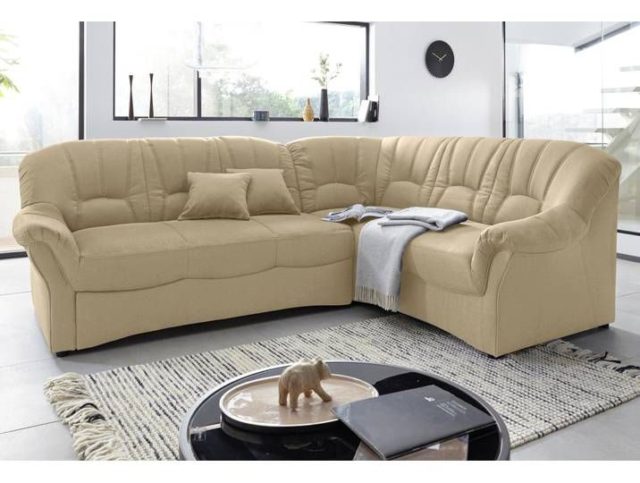 Domo Collection Ecksofa Mit Bettfunktion Beige Stoff Inkl Zierkiss Couch Sofa Colours
