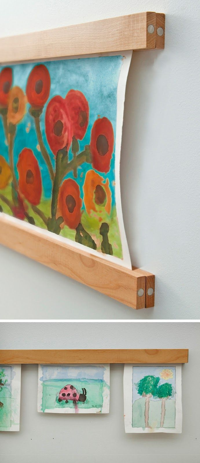 Magnetic frames for displaying art work