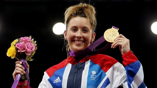 "Welsh gold medal winner Jade Jones is stunned by Olympic win - Britain's second Golden Woman from the 13th Day.  Jones, 19, made history on Thursday by becoming Britain's 1st Olympic taekwondo winner.  The Flint fighter beat world champion Yuzhuo Hou 6-4 to take the title.  ""It was just the best feeling, you can't describe that feeling.""  After a cagey opening round of the -57kg final, Jones took control in the second before easing to victory and securing Team GB's 25th gold medal at London…"