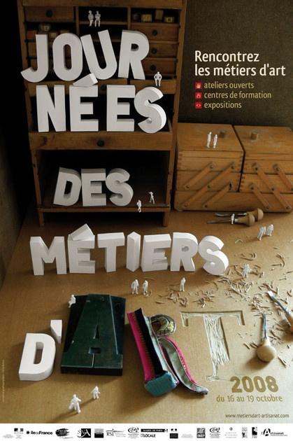 Cecile Bichon // Communication du Festival des journées des métiers d'art 2008