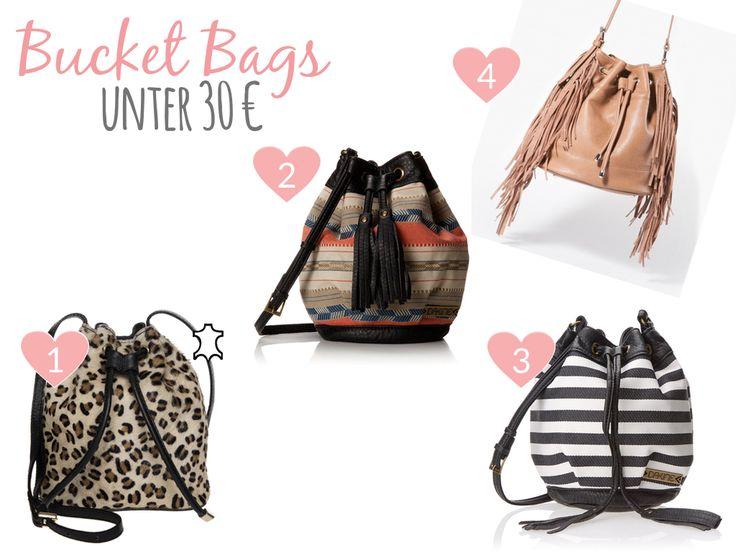 Bucket Bags under 30 € / Beuteltaschen unter 30 €