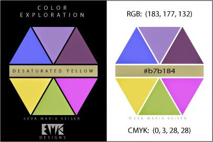 Eva Maria Keiser Designs: Explore Color:  Slightly Desaturated Yellow