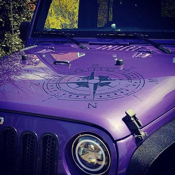 Jeep Wrangler Oscar Mike Distressed Style Compass Hood Vehicle Etsy Jeep Wrangler Jeep Jeep Decals