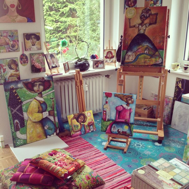 My painting corner.