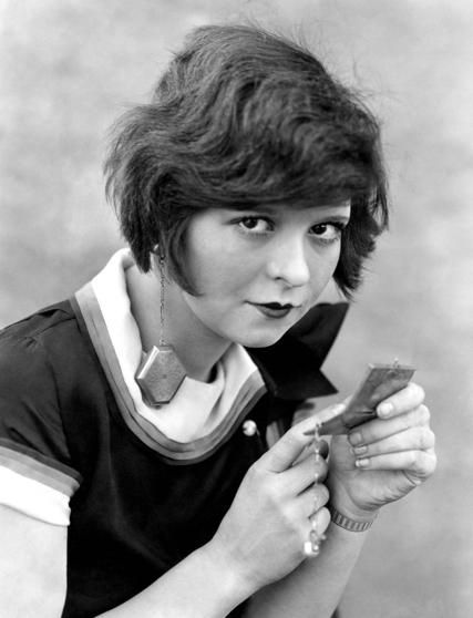 """Clara Bow: """"Clara liked boys. And, like many female stars of the time, she treated the boyfriends that she (most likely) slept with as """"engagements."""" Th..."""